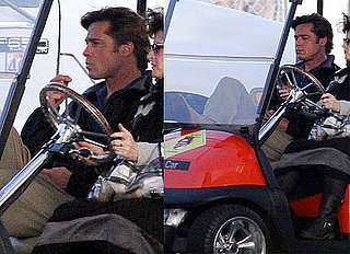 Pictures of Brad Pitt Shooting Moneyball