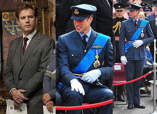 Prince William and Ewan McGregor at Battle of Britain 70th Anniversary Service