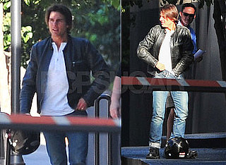 Pictures of Tom Cruise Riding His Motorcycle Around LA