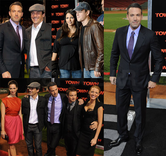 Ben Affleck, Matt Damon, Blake Lively, Jon Hamm at Fenway Park Premiere of The Town in Boston