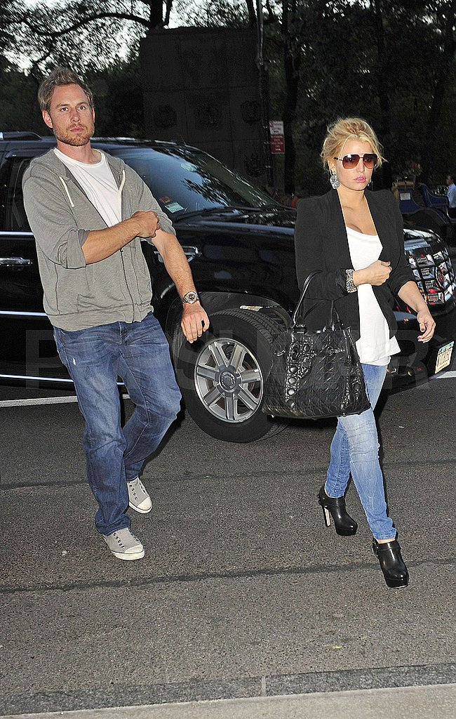 Pictures of Jessica Simpson and Eric Johnson in NYC