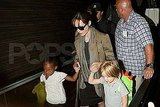 Pictures of Angelina Jolie, Shiloh and Zahara