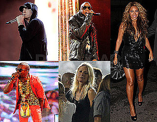 Pictures of Jay-Z and Beyonce Knowles Celebrating After His Show With Eminem