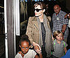 Slide Picture of Angelina Jolie at LAX With Shiloh and Zahara