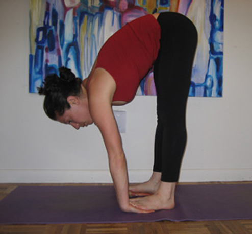 Forward With Feet Wrist Stretch