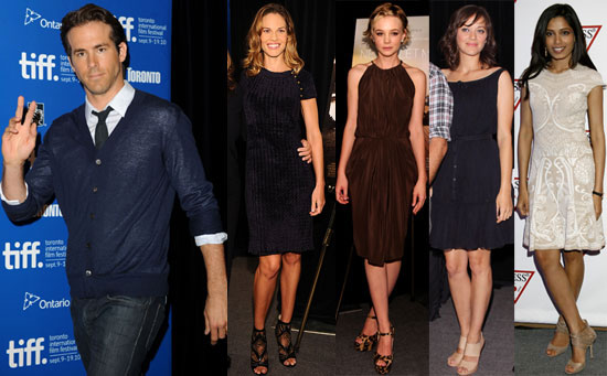 Pictures of Ryan Reynolds, Carey Mulligan, Freida Pinto and Hilary Swank at 2010 Toronto Film Festival