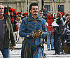 Slide Picture of Orlando Bloom on the Set of The Three Musketeers in Germany