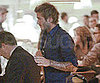 Slide Picture of David Beckham at Dinner in LA