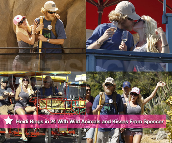 Pictures of Heidi Montag Kissing Spencer Pratt on Her 24th Birthday