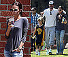 Pictures of David Beckham and Victoria Beckham Cheering on Romeo During Basketball Game