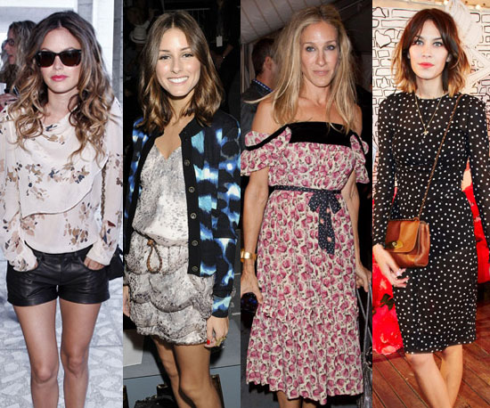 Celebrities at 2011 Spring New York Fashion Week in September