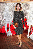 Alexa Chung looked adorable in polka dots at Mulberry.