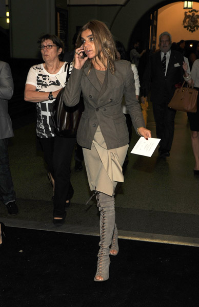 Carine Roitfeld, stunning as always on her way into Marc Jacobs.