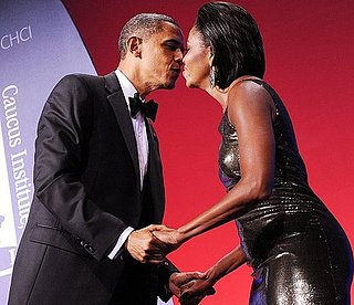Pictures of Michelle and Barack Obama Kissing at Hispanic Caucus Gala