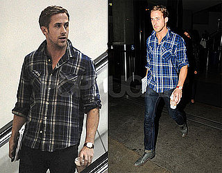 Pictures of Ryan Gosling Arriving at LAX