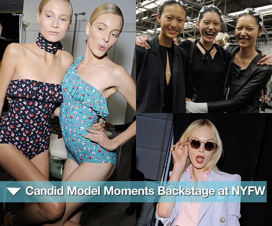 Funny Face! Candid Model Moments Backstage at NYFW