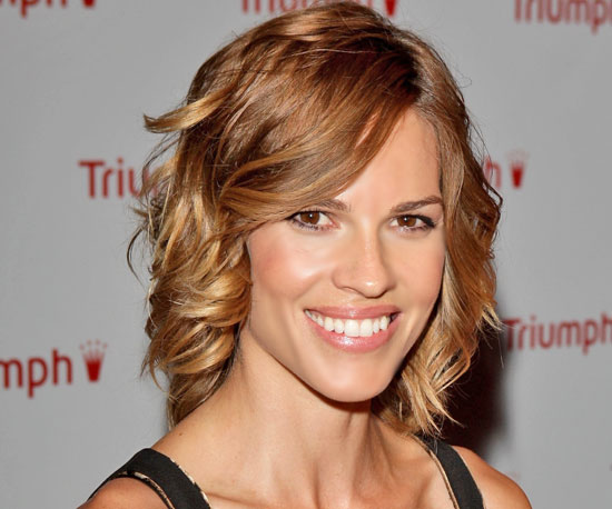 Hilary Swank's Five-Minute Curls