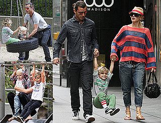 Pictures of Gwen Stefani and Gavin Rossdale at the Park in NYC With Kingston and Zuma