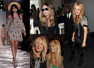 Sienna Miller, Elle MacPherson, Daisy Lowe, Cat Deeley at London Fashion Week 2010-09-19 20:30:00