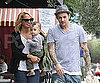 Slide Picture of Nicole Richie With Joel Madden and Sparrow in LA