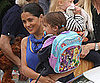 Slide Picture of Salma Hayek and Valentina at School in LA