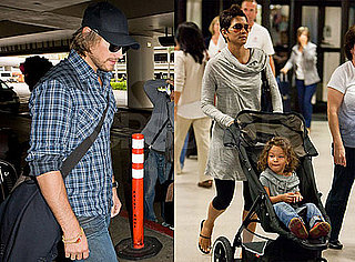 Pictures of Halle Berry with Gabriel Aubry and Nahla at LAX
