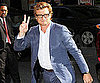 Slide Picture of Simon Baker Arriving at The Late Show in NYC