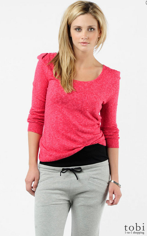 BB Dakota Jack Emelyn Puff Shoulder Sweater ($53)