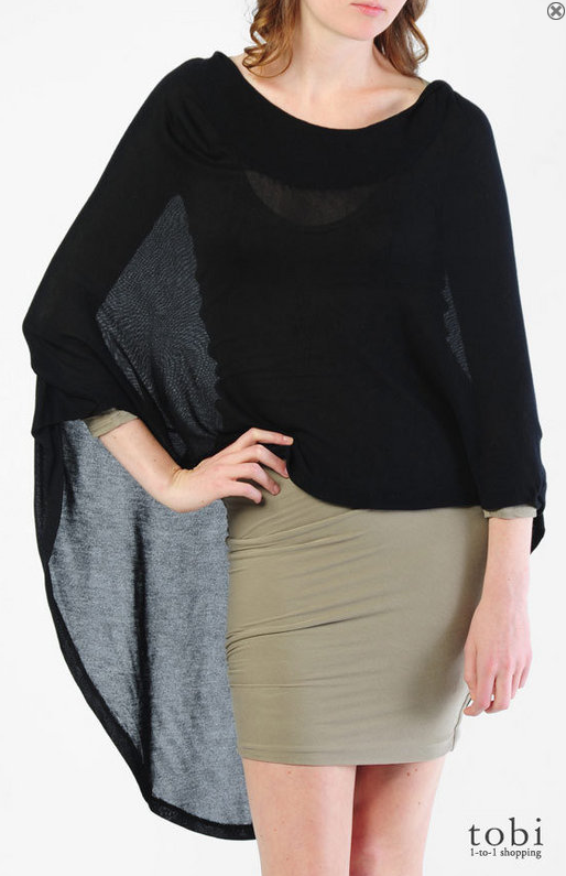 fLuXuS Thunder Capelet Hooded Poncho ($95)