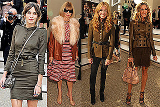 Pictures of Sarah Jessica Parker, Aaron Paul, and Anna Wintour at the 2011 Spring Burberry Show