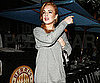 Slide Picture of Lindsay Lohan at Dinner in LA
