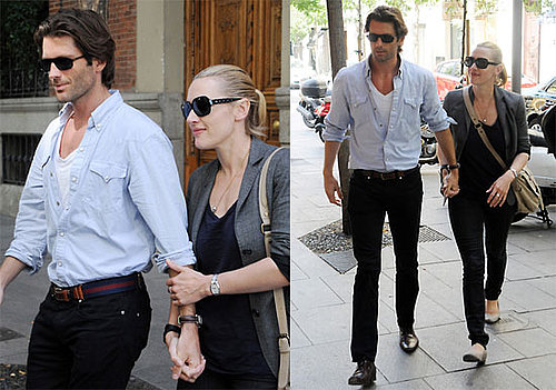 Pictures of Kate Winslet and Louis Dowler Holding Hands in Madrid, Spain
