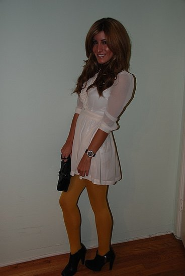 Mustard Colored Tights, Le Fashion Monster