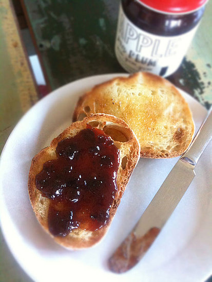 Apple Plum Jam on toast.