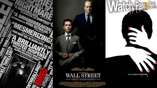 Video Reviews of Buried, Wall Street Money Never Sleeps, You Will Meet a Talk Dark Stranger