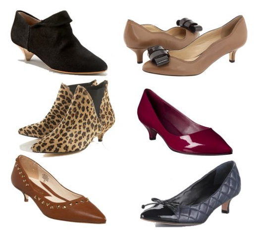 In conjunction with Fall's ladylike trend, kitten heels are back!