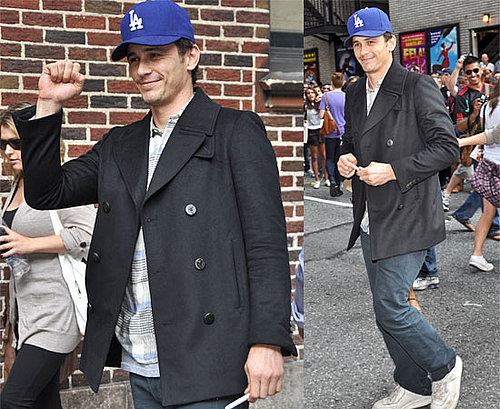 Pictures of James Franco at The Late Show