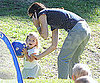 Slide Picture of Jennifer Garner and Seraphina at Soccer Practice in LA
