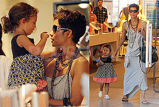 Pictures of Halle Berry With Nahla Aubry Shopping in LA
