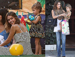 Pictures of Jessica Alba and Honor at Birthday Party in LA
