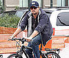 Slide Picture of Leonardo DiCaprio Riding Bike in NYC