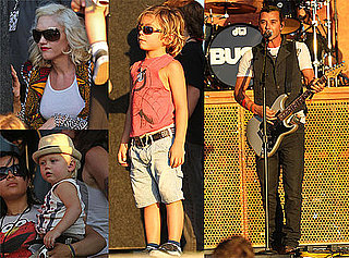 Pictures of Gavin Rossdale Performing With Bush While Gwen, Kingston, and Zuma Watch From the Crowd