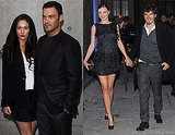 Orlando Bloom, Miranda Kerr, Kylie Minogue, Mischa Barton at Milan Fashion Week