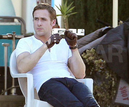 Pictures of Ryan Gosling on the Set of Drive in High Desert, CA