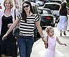 Slide Picture of Jennifer Garner and Violet Affleck at Ballet in LA