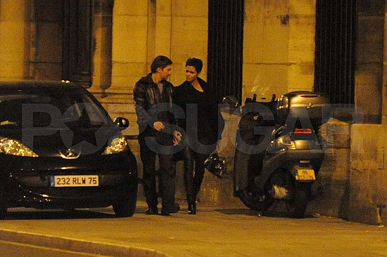 Pictures of Halle Berry and Olivier Martinez in Paris