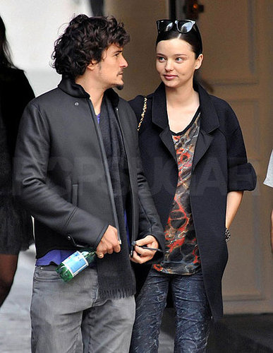 Photos de Miranda Kerr enceinte et d'Orlando Bloom a Paris