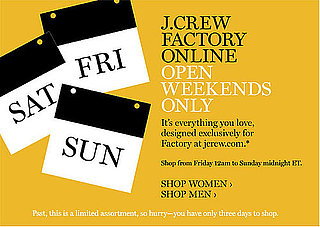 J.Crew Opens Weekend-Only Factory Store Online