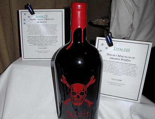 Food and Wine Silent Auction Bidding