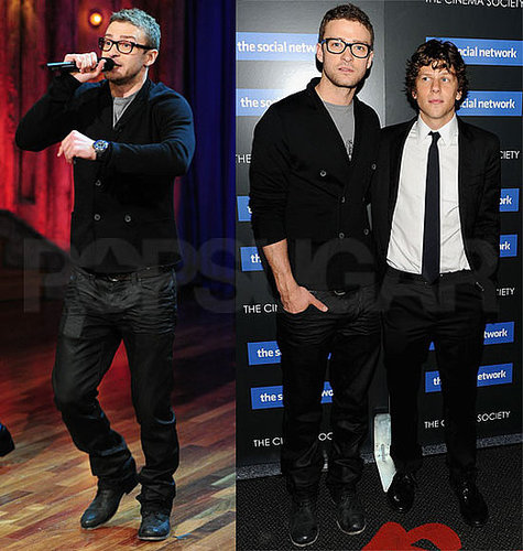 Pictures of Justin Timberlake, Jesse Eisenberg, Peter Facinelli at The Social Network Screening in NYC